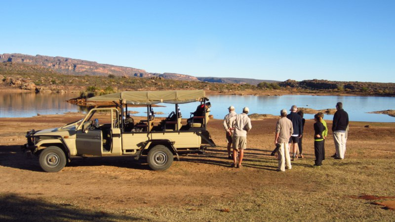 Coffee on the early morning game drive