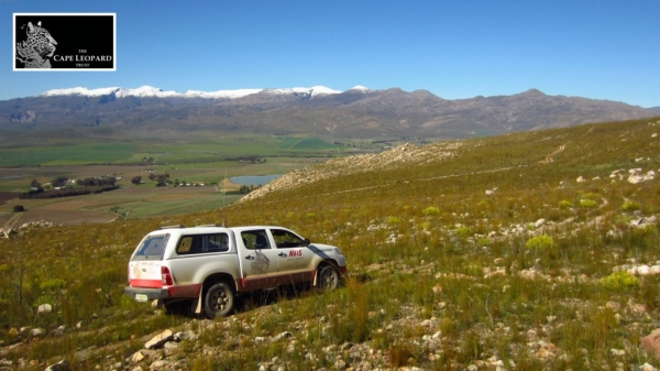 The previous Boland research vehicle, Davis, on duty in the Stettyn mountains north of Villiersdorp