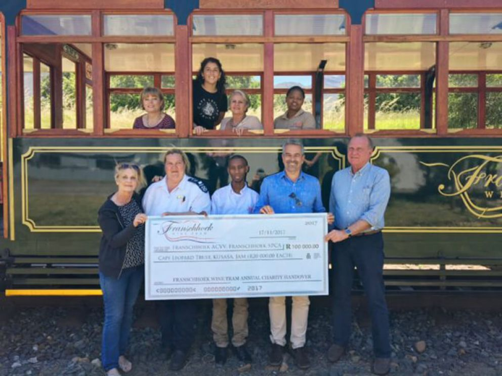 Franschhoek Wine Tram supports charities
