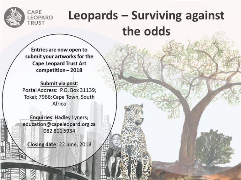 "ART COMPETITION 2018: ""Leopards: Surviving against the odds"""