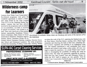 Wilderness Camp for Learners