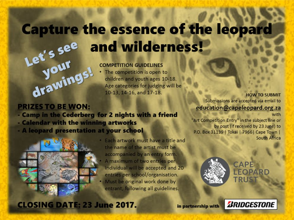 The Essence of a Leopard - Cape Leopard Trust's Annual Inter-School Art Competition