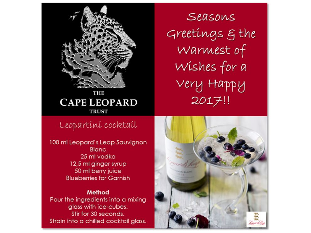 Toast the festive season with a 'Leopartini'